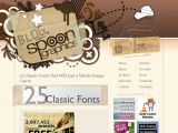 http://www.blog.spoongraphics.co.uk/articles/25-classic-fonts-that-will-last-a-whole-design-career